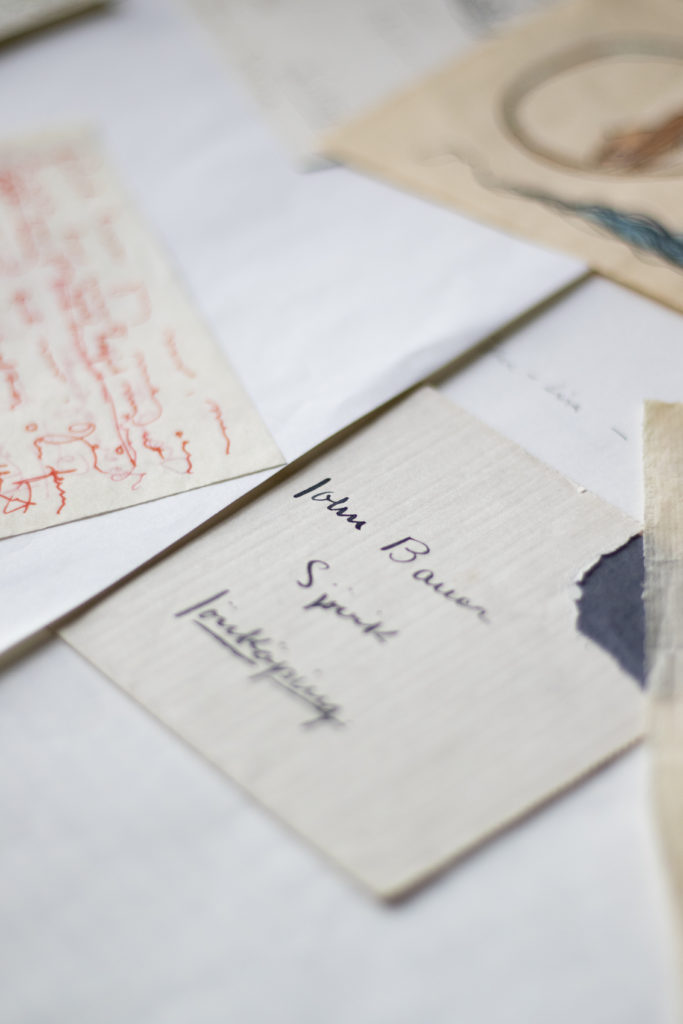 Äldre brev adresserade till John Bauer